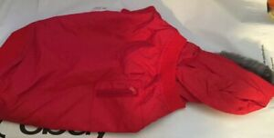 Snooty Dog Coat Spring Red Parker Fur Lined Hood Poly Lining #996C 14-17 inch