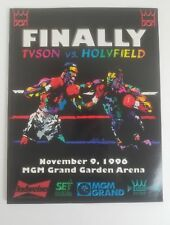 1996 Tyson vs Holyfield Onsite World Heavyweight Title Boxing Program 11/9/96