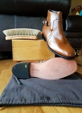 Vtg Johnston & Murphy Aristocraft Brown Leather Ankle Beatle Boot USA 10.5 C/A
