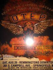 Otep w/Destrophy * Rare Concert Flyer Mini Poster * Slight Bends