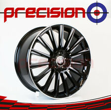 "19"" Set of 4 KESKIN Black Lip Polish Alloys for Mercedes C-Class 2013-2016"