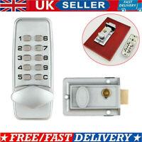 Waterproof Mechanical Digital Door Gate Lock Button Keypad Keyless Code Lock Set