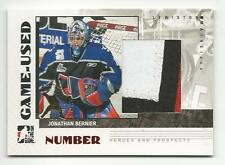 07-08 ITG In the Game Jonathan Bernier Pre RC Rookie Patch 1/1 Spring Expo Mint
