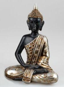 Buddha 33cm Arte Pietra Oro Antico
