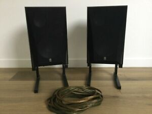 Steel Adjustable Speaker Stands JBL? plus Set of Yamaha NS-6390 Speakers & Cable