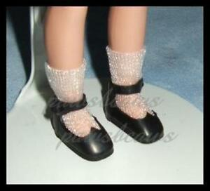 "BLACK Reproduction 8"" Tiny Betsy McCall SHOES Kickits"