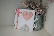Baby Memory Book Journal Scrapbook Gift Mum to Be Hand Decorated Baby Shower