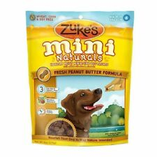 Zukes Mini Natural Peanut Butter Recipe Dog Treat 6 Ounce, Pack Of 2