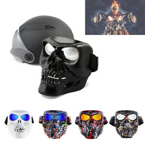 Motorcycle Mask Goggles Skull Glasses Riding Windproof Goggles Halloween Mask