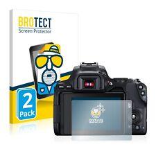 2x Display Schutz Folie für Canon EOS 250D Matt Entspiegelt