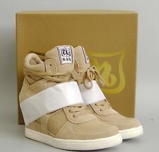 New with Box Ash COOL Suede Canvas Wedge Sneakers Shoes, CHAMOIS (BEIGE), EUR 37