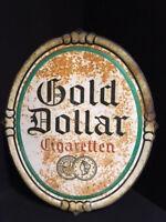 Oro Dollar Cigaretten - Vecchio Targa di Latta 43 X 50 CM - D Del 1930