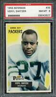 1955 BOWMAN #35 VERYL SWITZER PSA 8 PACKERS NICELY CENTERED  *DS9207
