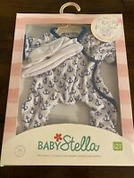 "Manhattan Toy Baby Stella Goodnight Pajama Baby Doll Clothes  15""Anchors Away"