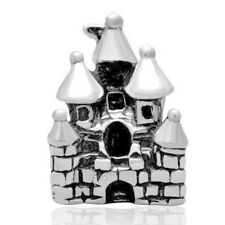Castle Charm Bead 925 Sterling Silver