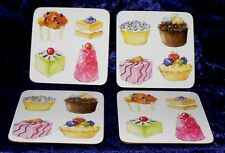 Cupcake coasters. Set of 4 cupcake design cork backed,wipe clean coasters packed