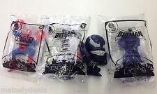 McDonalds/Burger King Batman/ Spiderman Toy Lot Of 4! See Pics!