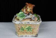Fitz & Floyd High Sierra collection Bear lidded, covered box
