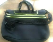 Pre-Owned BCBGeneration Black Cloth Bag with Neon Green Trim