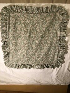 Laura Ashley Euro Size Pillow Shams Cottage Paisley