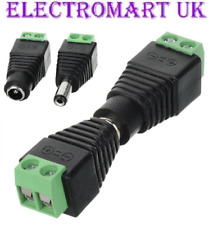 12V DC MALE FEMALE POWER PLUG SOCKET CONNECTOR CCTV LED STRIP LIGHT ADAPTOR