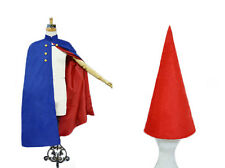Over the Garden Wall Wirt Cosplay Costume Cloak with Hat Outfit Blue Red Lining