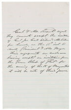 Ulysses S. Grant - Autograph Letter Signed - Refuses to Meet Rutherford B. Hayes
