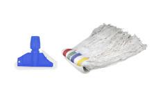 5 x 12oz Kentucky Mop Head & 1 x Clip Industrial Commercial Mops Floor Cleaning