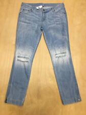 NEW Carmar Hole Ankle Zip Relax Fit Liam Denim Side Zip Jeans Size 28 NWT A86