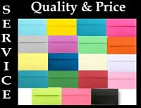 Lot 50 Boxed Colored Greeting Card Envelopes A7 for 5 x 7 Invitations Shower