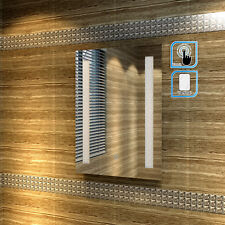 450x600mm LED Illuminated Bathroom Mirror IP44 SENSOR TOUCH FREE NEXT DAY DEL