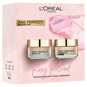 L'Oreal Paris Age Perfect Rosy Ritual Day & Night Skincare Gift Set + Satin Mask