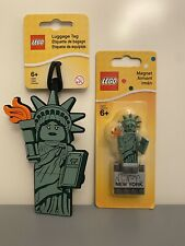 LEGO New York City Statue Of Liberty Magnet 853600  & Luggage Tag 52063
