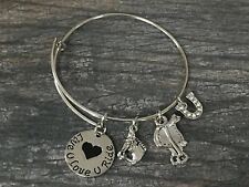 Horse Charm Bracelet , Cowgirl Jewelry, Horse Lovers Equestrian Bracelet