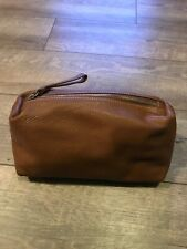 Tan Leather Toiletry Travel Bag Garuglieri  - Made in Italy - VERY NICE