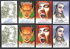 "WORLD OF FANTASY Breygent BULK LOT 8 ""Z-CARDS"" Including 4 AUTOGRAPH CARDS v1"