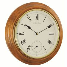 London Clock Co 32cm finition Chêne Traditionnel Horloge murale