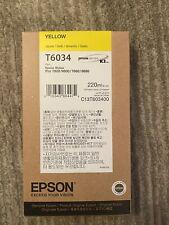 10-2021 NEW GENUINE EPSON T6034 YELLOW 220ml INK STYLUS PRO 7800 9800 7880 9880