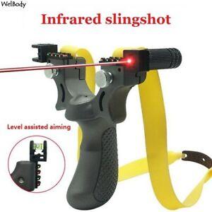 Lance Pierre puissant pro Laser Fronde extérieur de chasse Tir projectile billes