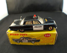 Dinky Toys GB No. 258 Ford Fairlane USA Police Car in Box