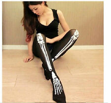 Women Black Mesh Pattern Stockings Hosiery Tights Pantyhose High Long Socks