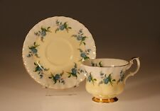 Royal Albert British Blue Forget Me Knots  Cup & Saucer