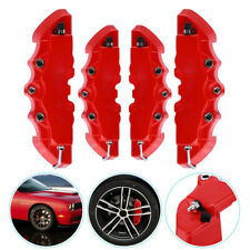 4PCS Universal 3D Red Style Car Disc Brake Caliper Covers Front & Rear Kits UK
