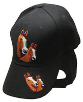Horses Horse Head(s) Black Embroidered Cap Hat RAM