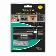 Sterling CLB110BK Combination Locking Bolt 110mm 4 Dial