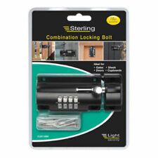 Sterling CLB110BK Combination Locking Bolt 110mm 4 Dial