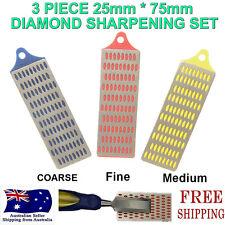 3pc Diamond Sharpening Honing Whetstone Stone Chisel Knife Sharpener Hand Tools