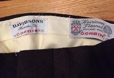 Vintage DAVIDSON Corbin Heirloom Flannel 100% Wool Men's Dress Pants.