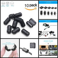 3mm Ring Core Ferrite Bead Choke Coil Clamp RFI Cable Clip Noise Filter 10 Pack