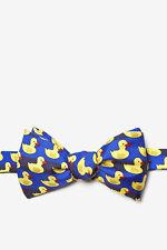 Men's 100% Silk Yellow Rubber Duck Ducky Bath Toy Self Bowtie Bow Tie Neckwear